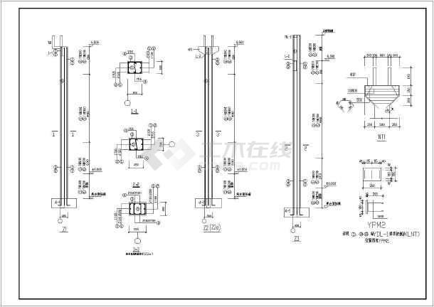图纸 建筑结构图 厂房结构设计 轻钢结构厂房 某地2连跨圆弧钢管桁架