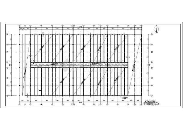 图纸 建筑图纸 工业建筑 工业厂房车间建筑施工图 某地单层框架结构冷