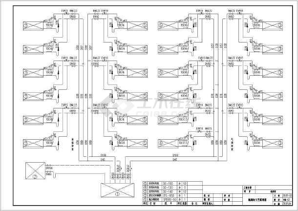 图纸内容包括设计说明,制冷设备及管道平面布置图,制冷工艺系统图,氟