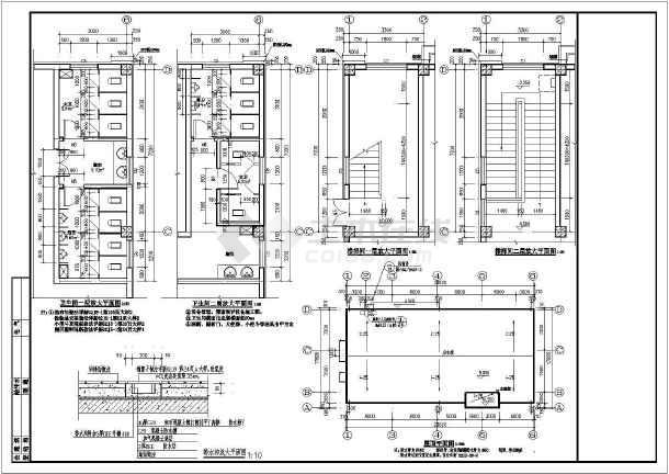 某二层框架结构食堂建筑设计方案图