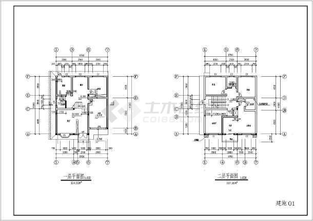 某地三层砌体结构别墅建筑方案设计图