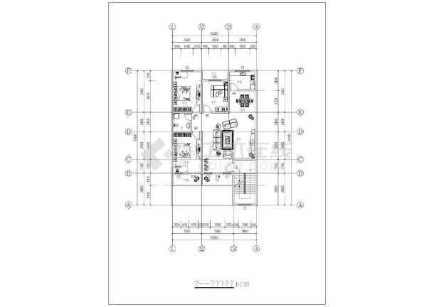 某农村自建6层住宅楼设计方案平面户型图_ca