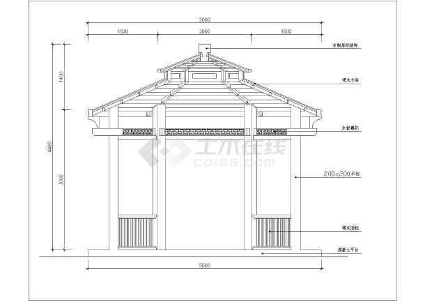 园林设计中常用的各种亭子详细施工图