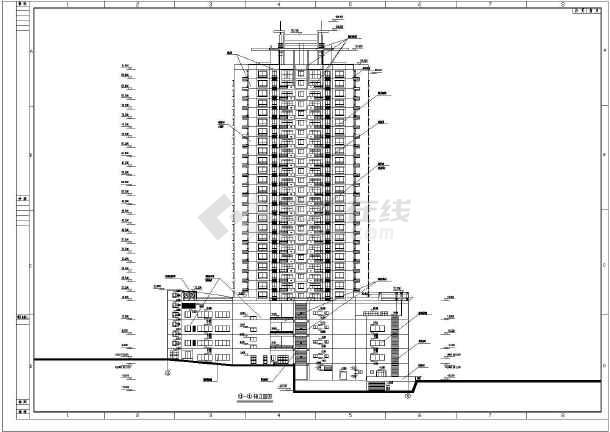 重庆28层混凝土框架大厦图纸下载施工图_cad结构修改cad建筑怎样圆图片