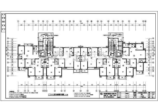 某小区33层住宅楼图纸施工图_cad直线下载cad电气中合并把图片