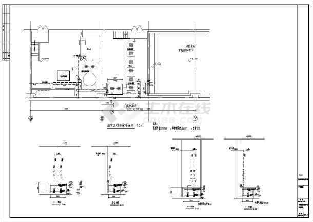 某九层仿宋式佛塔建筑给排水设计图纸