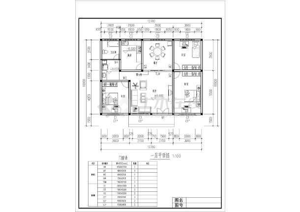 农村地区单层住宅建筑设计施工方案