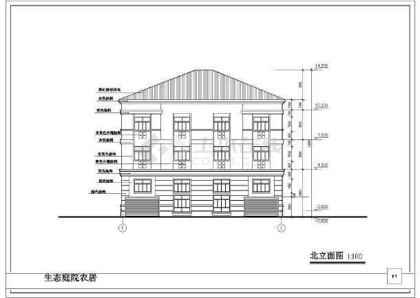 某地三层别墅建筑设计图纸(全套)