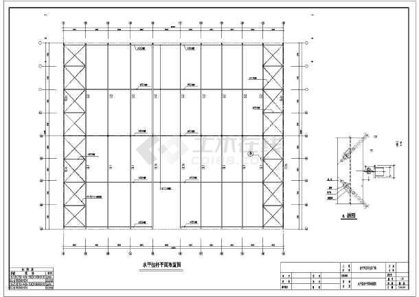 某汽车交易广场门式刚架结构设计施工图