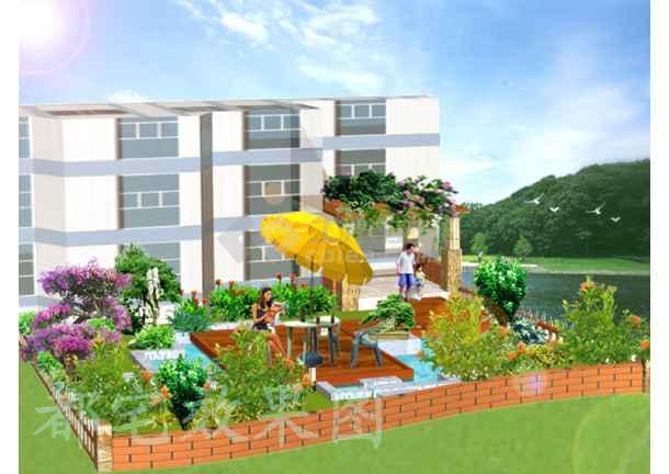 私人别墅庭院绿化布置平立面图