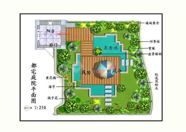 别墅庭院立面图
