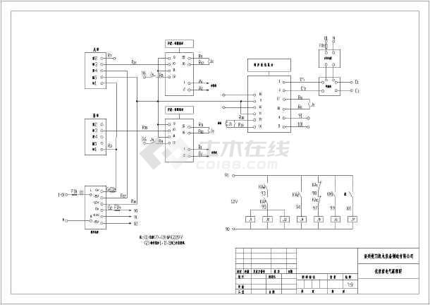 某原理液压水库填充电气闸门系统图_cad图纸cad启闭中是开怎么块炸图片