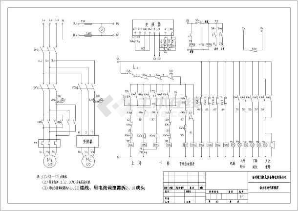 某水库闸门液压启闭系统电气原理图