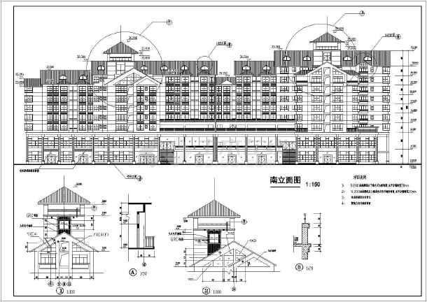 图纸 建筑图纸 办公楼设计 欧式办公楼 柳州市九层框剪结构办公楼建筑