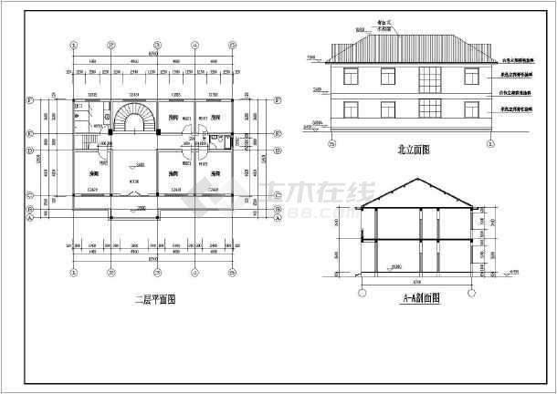 某地两层砖混结构独立别墅结构施工图