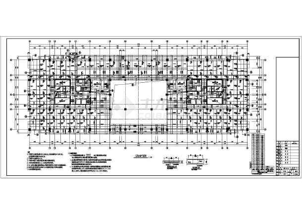 某地区22层框架剪力墙结构设计施工图纸