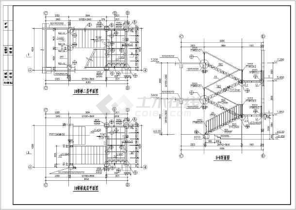 二层楼楼梯设计图