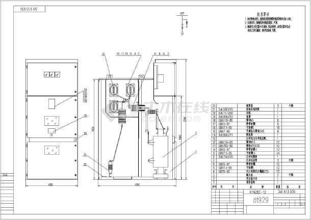 kyn28结构图,图纸主要包括pt柜,馈线柜,隔离柜,站用变压器柜,电容柜
