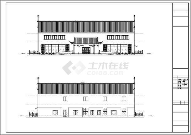 重庆市某地多栋框架结构仿古建筑设计施工图纸图片