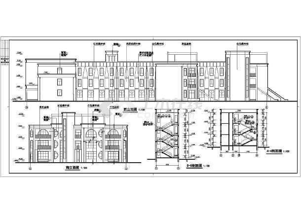某地3层框架结构9个班幼儿园建筑设计施工图_cad图纸