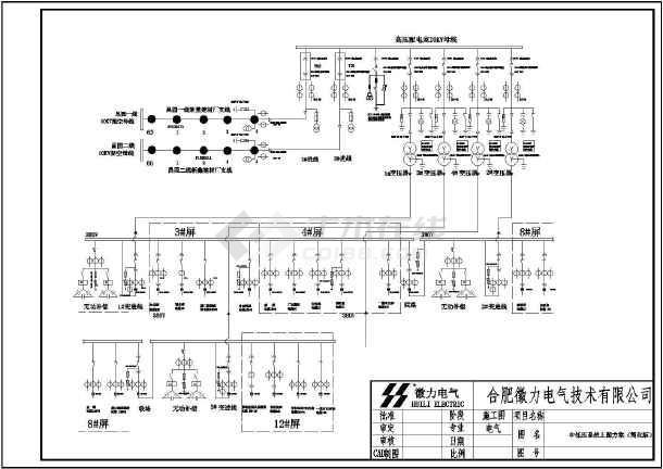某工厂的电气高低压配电系统设计图纸图片3图片