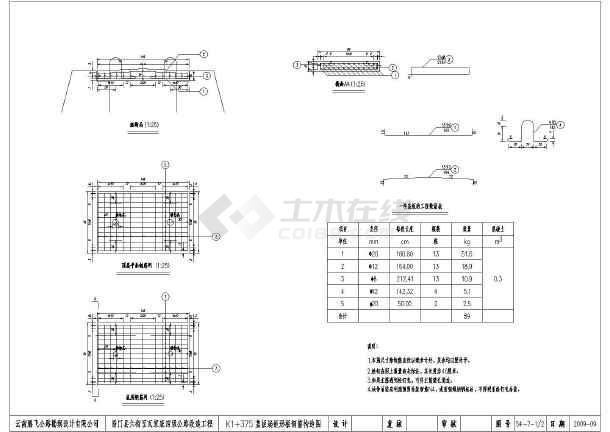 盖板涵的施工设计图纸(重力式的挡土墙)-图1