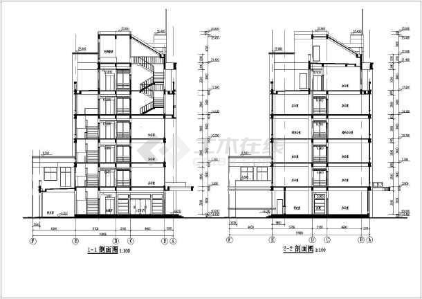 西安市某地6层办公楼建筑设计施工图