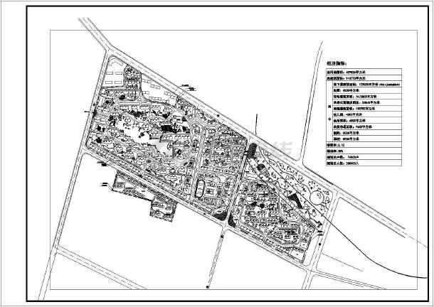 花湖住宅小区规划设计总平面布置图