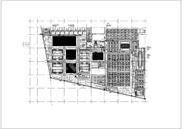 售楼处精装修平面图,强弱电布线图