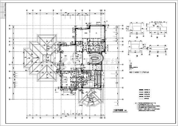 太仓东海某框架结构别墅建筑施工图纸