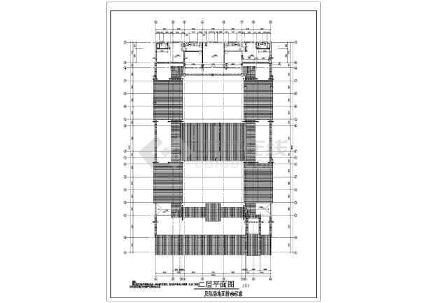 某地局部两层框架结构四合院建筑施工图