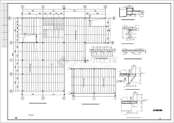 某品牌汽车4s店的单层钢框架结构设计施工图