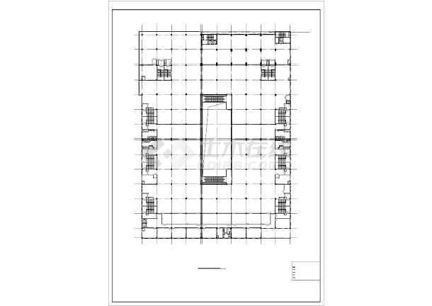 某地大型超市(带人防)建筑设计图
