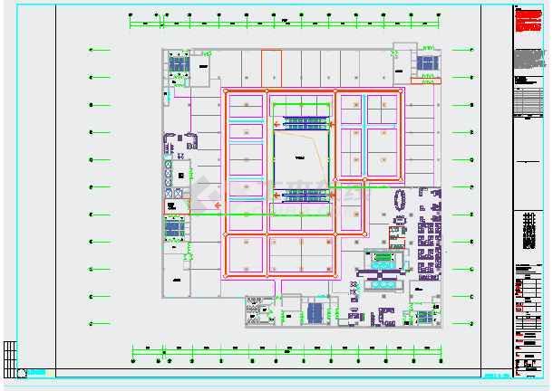 本图为商业综合体平面布置图纸