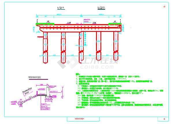 图纸 路桥图纸  桥梁桥涵(桥梁图纸)  桥梁工程设计图(桥梁工程)  3x