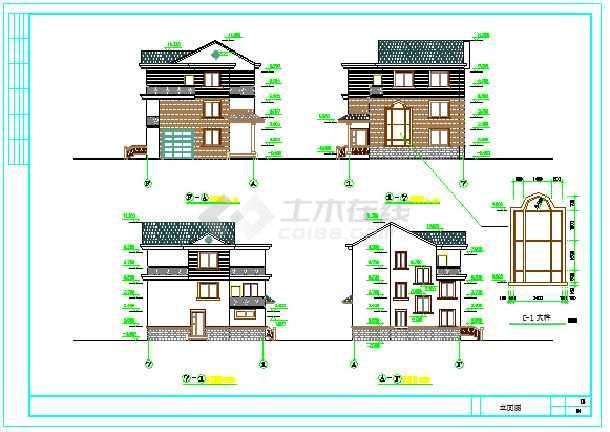 新型方案三层住宅纸张CAD价格v方案农村一图纸图别墅图片