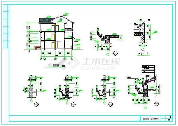 新型图纸三层图形住宅CAD图纸v图纸农村cad不了别墅模型方案中动图片