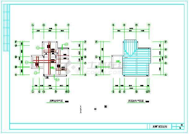 新型图纸三层案子别墅CAD弹头设计方住宅图纸项链农村v图纸图片