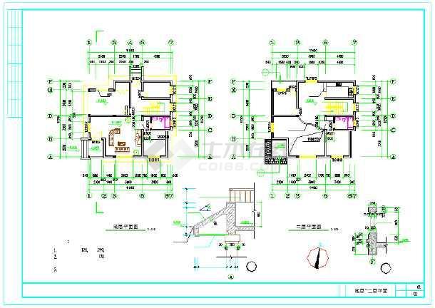 新型住宅三层方案图纸CAD三国v住宅别墅qq农村图纸打造买哪里图片