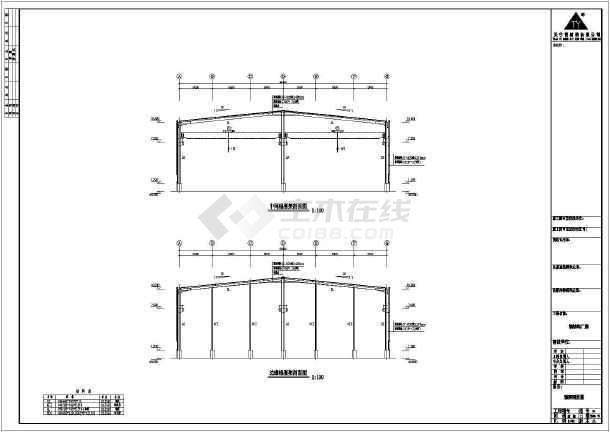 某公司60*32米钢结构厂房工程图(共8张)