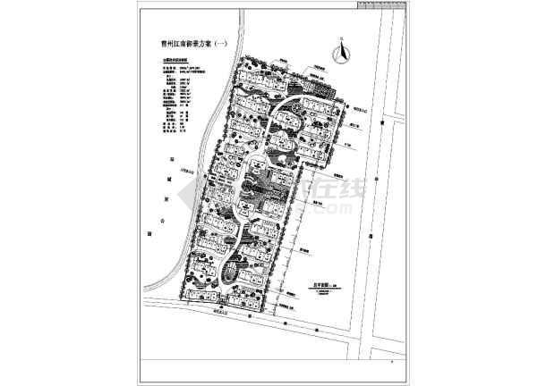 江南某地御景建筑规划总平面设计图纸图片1