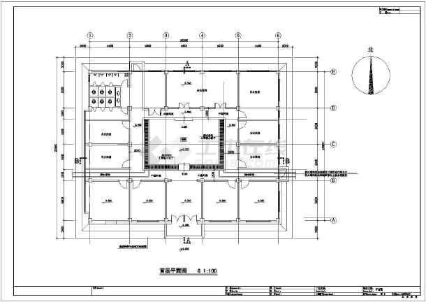 目录及建筑与结构设计总说明,平面图,屋面平面图,南立面图,剖面图