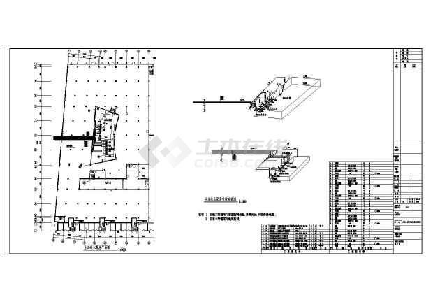 某小区高层车库框架地下结构给排水消防设计图申请建筑设计事务所图片