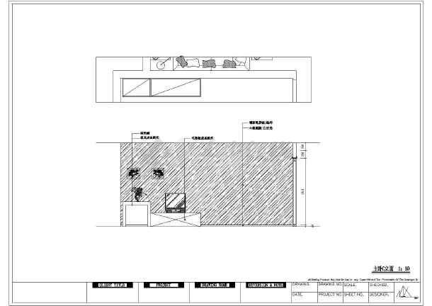 某地三室两厅一厨两卫户型装修设计方案_cad图纸下载