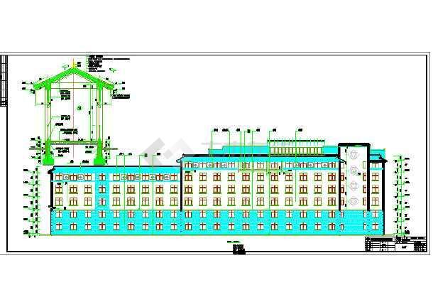 淮阳县羲皇宾馆5层框架结构建筑施工图