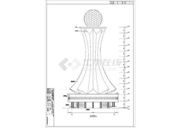 图纸 建筑图纸 工业建筑 办公研发单体建筑施工图 某地剪力墙结构雷达