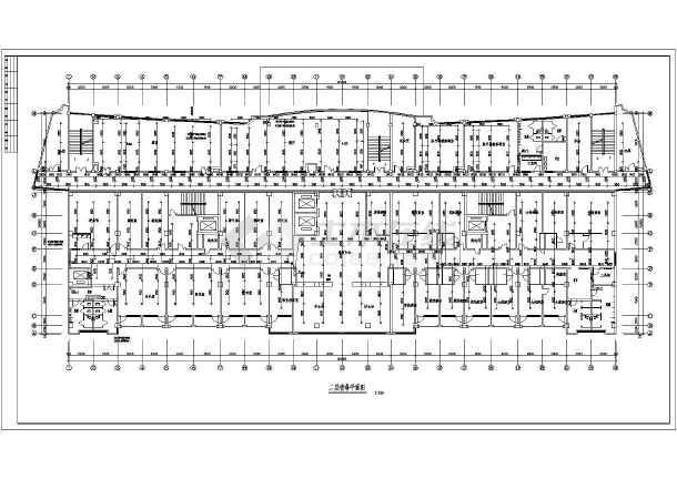 某十病房河网高层楼给排水及消防施工图mike11绘制二层图片