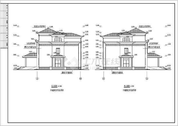 某地多层框架办公楼建筑方案设计图