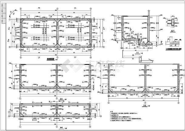 层v砌体砌体(混凝土)和水池(泵房)结构施工图_ccad0r旋转图片