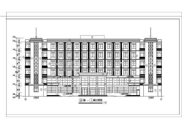 某地6层混凝土框架结构急诊楼建筑施工图纸